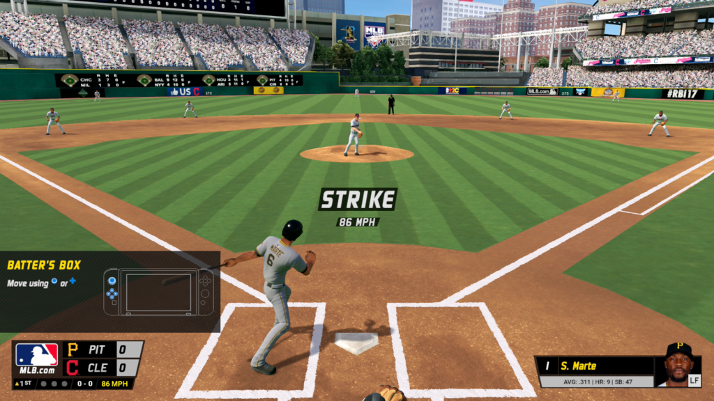 A screenshot of RBI Baseball in which I am doing very badly.