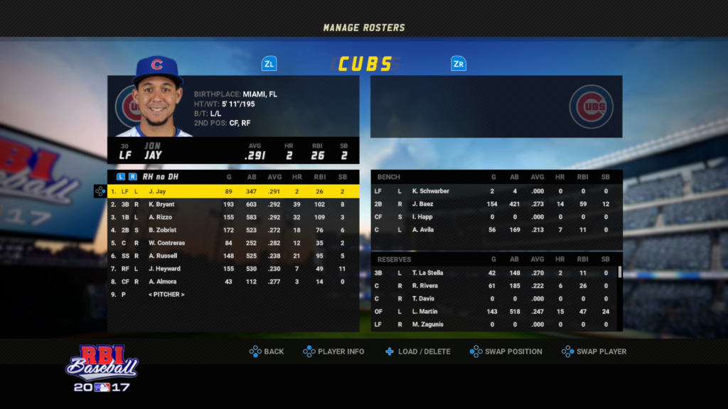 A Screenshot from RBI Baseball 17 with TOO MANY NUMBERS