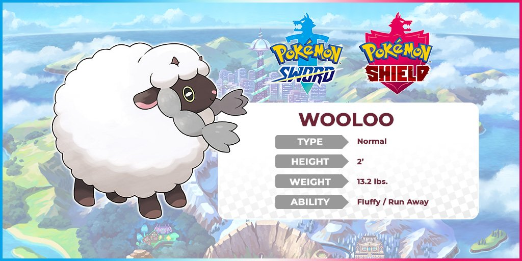 Stats of the Pokemon, Wooloo